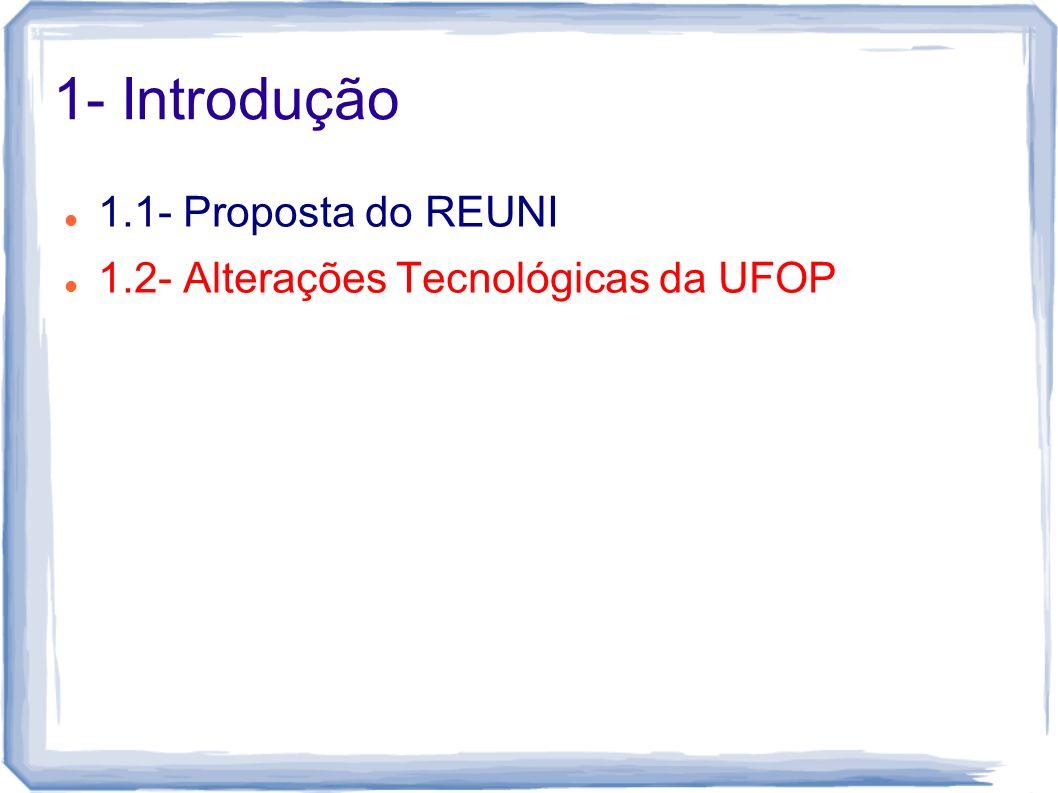 1- Introdução 1.1- Proposta do REUNI