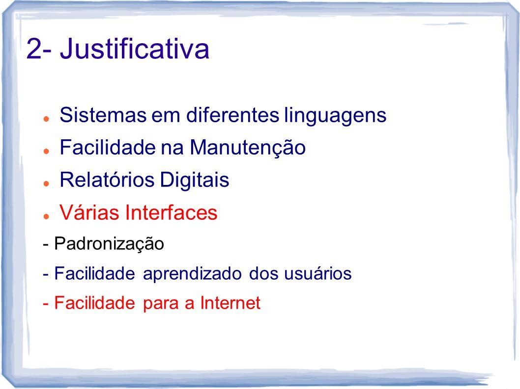 2- Justificativa Sistemas em diferentes linguagens