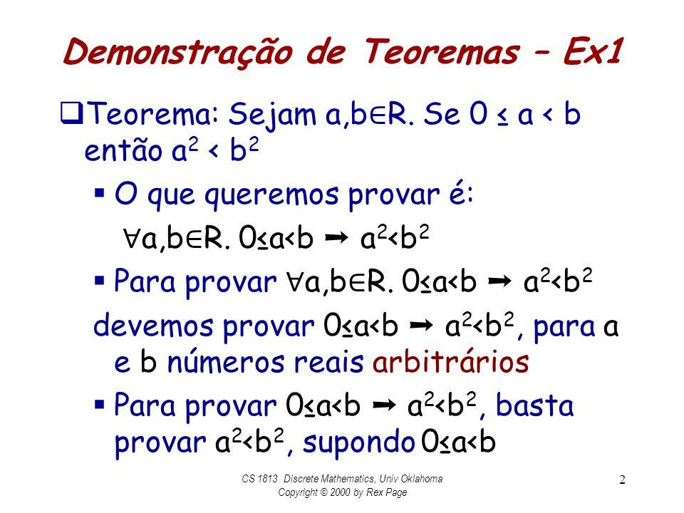 Demonstração de Teoremas – Ex1