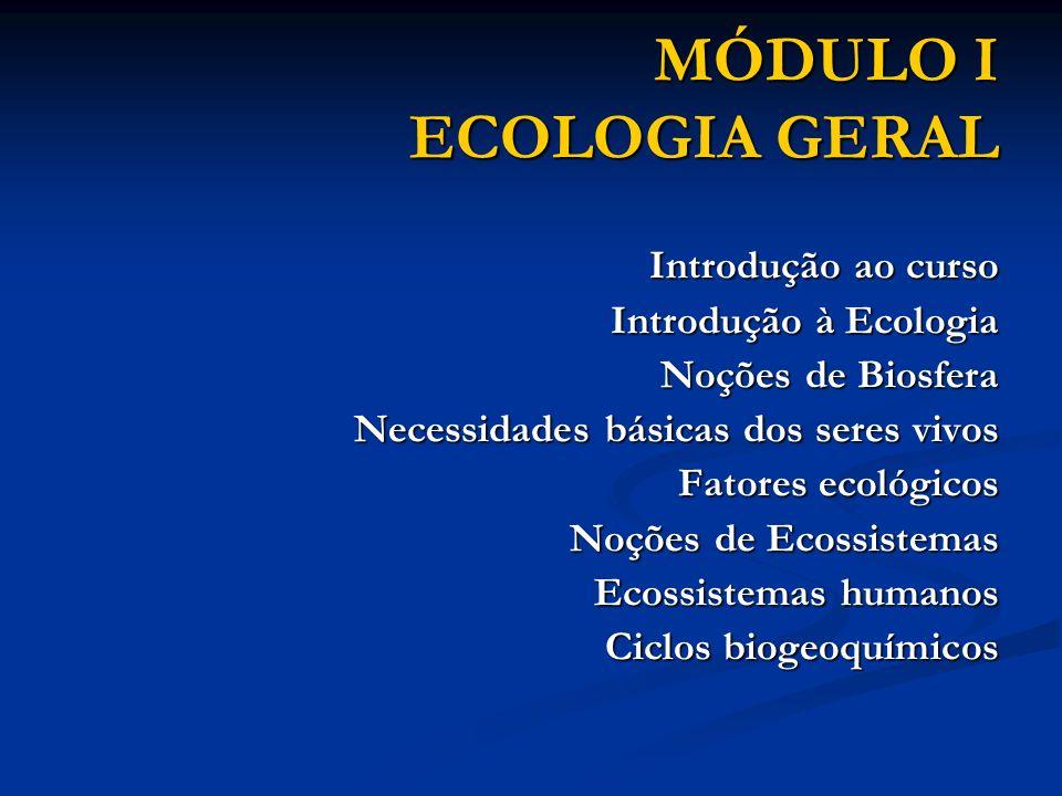 MÓDULO I ECOLOGIA GERAL
