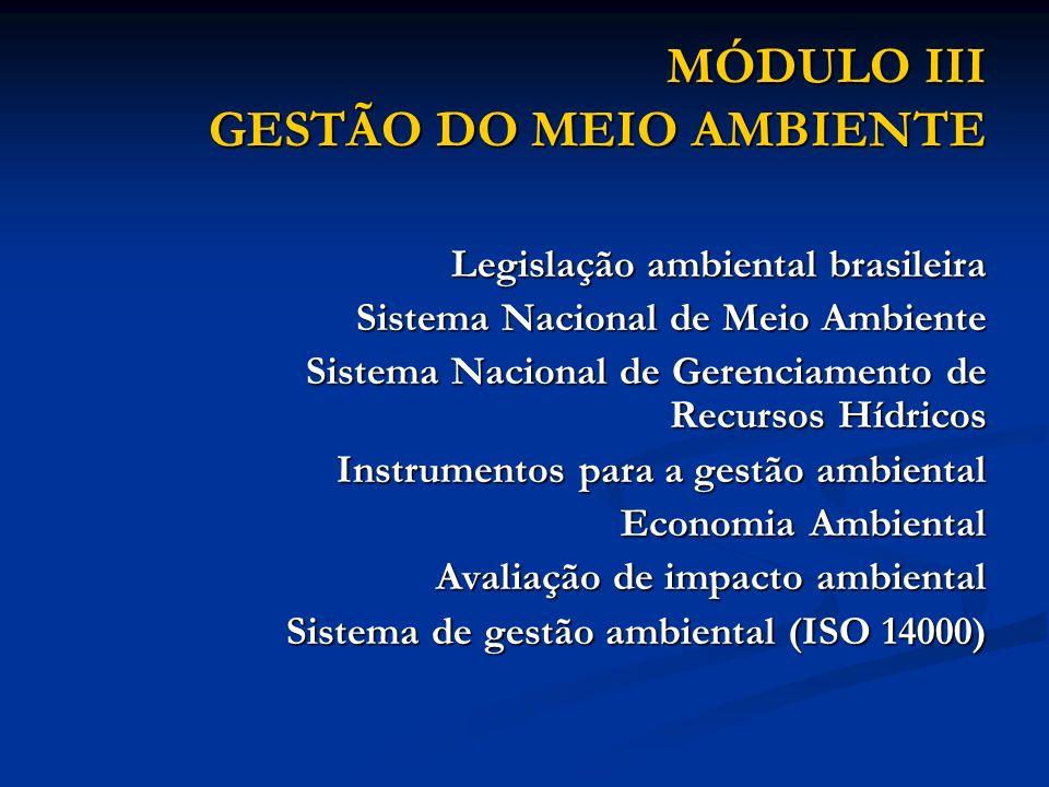 MÓDULO III GESTÃO DO MEIO AMBIENTE