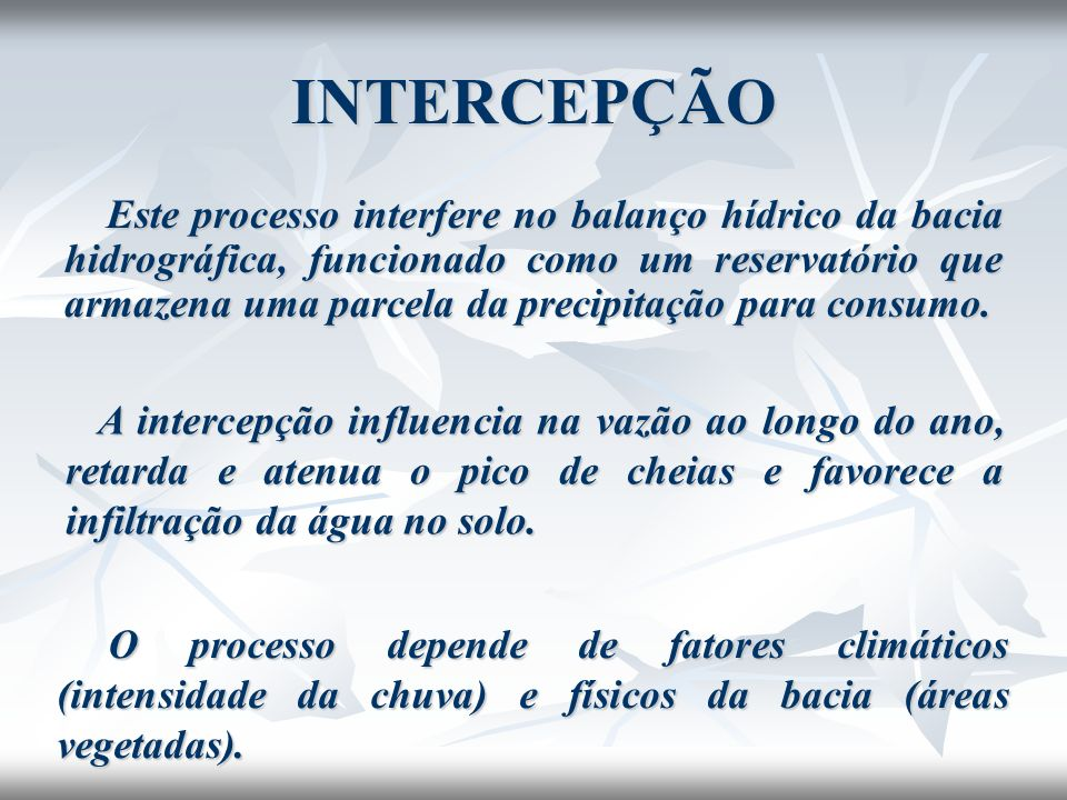 INTERCEPÇÃO