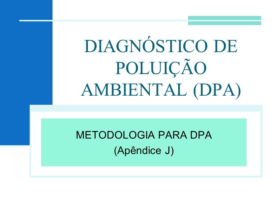 DIAGNÓSTICO DE POLUIÇÃO AMBIENTAL (DPA)