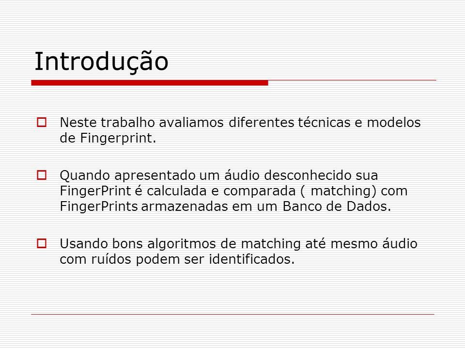 Introdução Neste trabalho avaliamos diferentes técnicas e modelos de Fingerprint.
