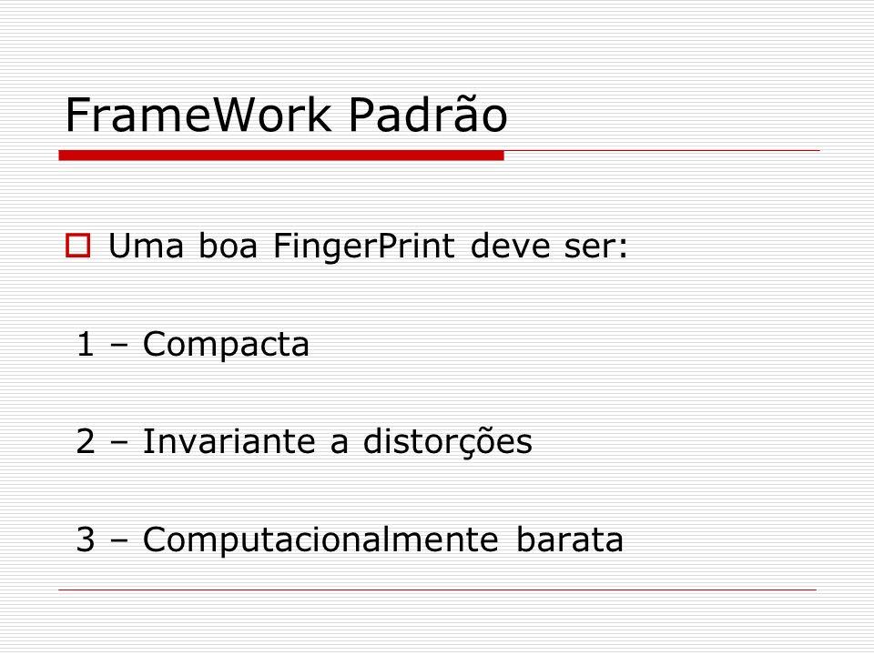 FrameWork Padrão Uma boa FingerPrint deve ser: 1 – Compacta