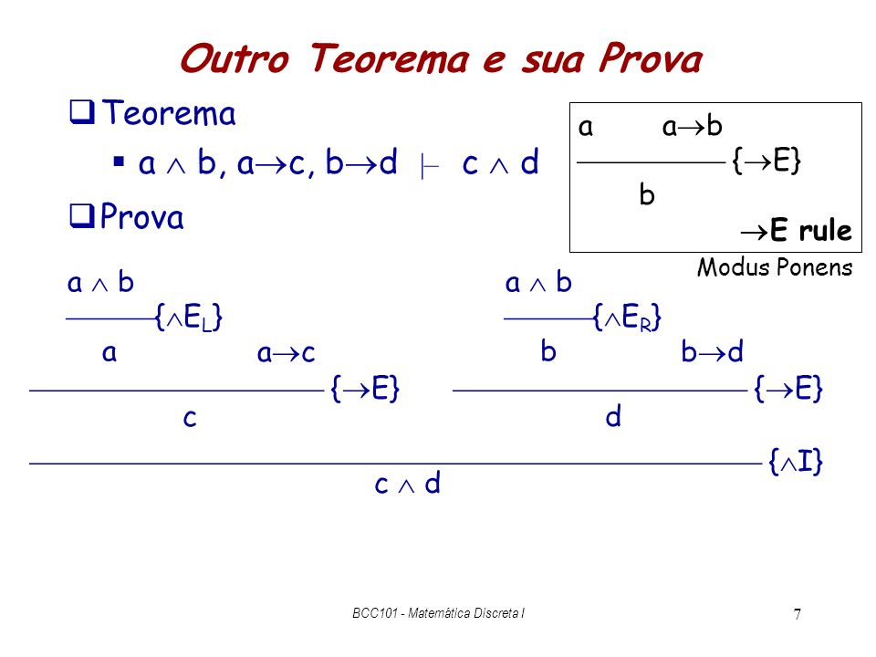 Outro Teorema e sua Prova