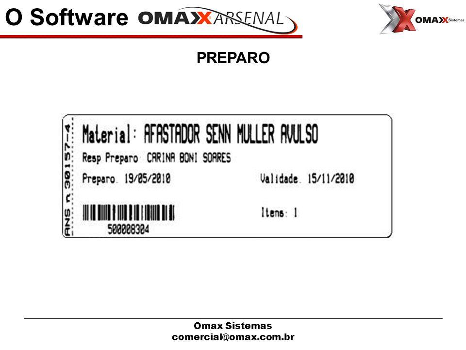 O Software PREPARO Omax Sistemas comercial@omax.com.br