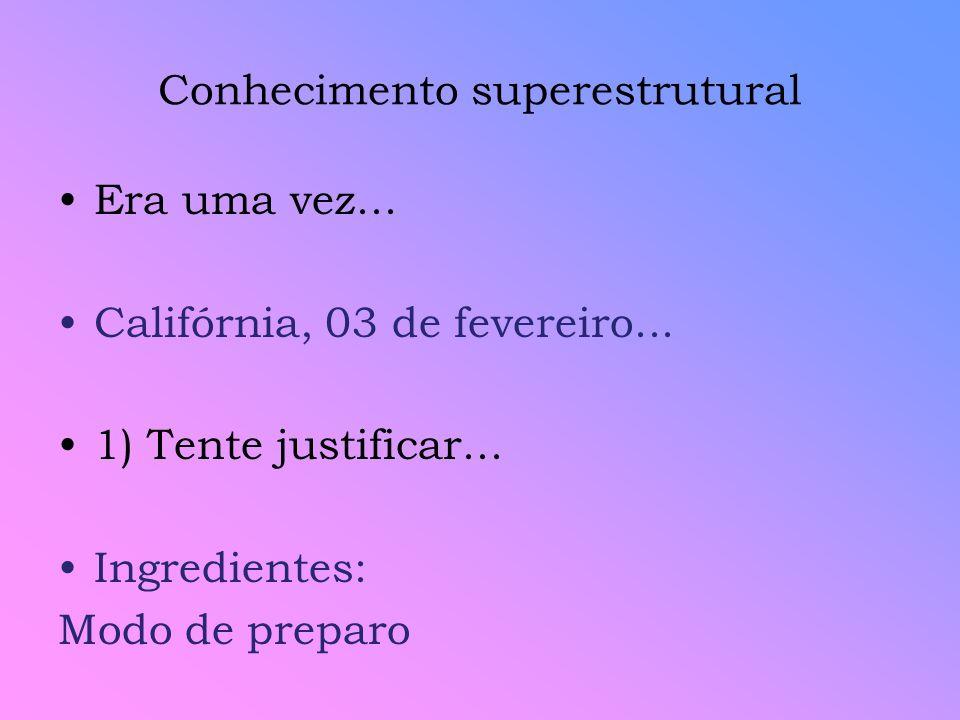 Conhecimento superestrutural