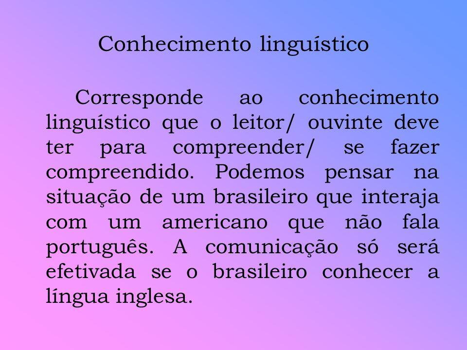 Conhecimento linguístico