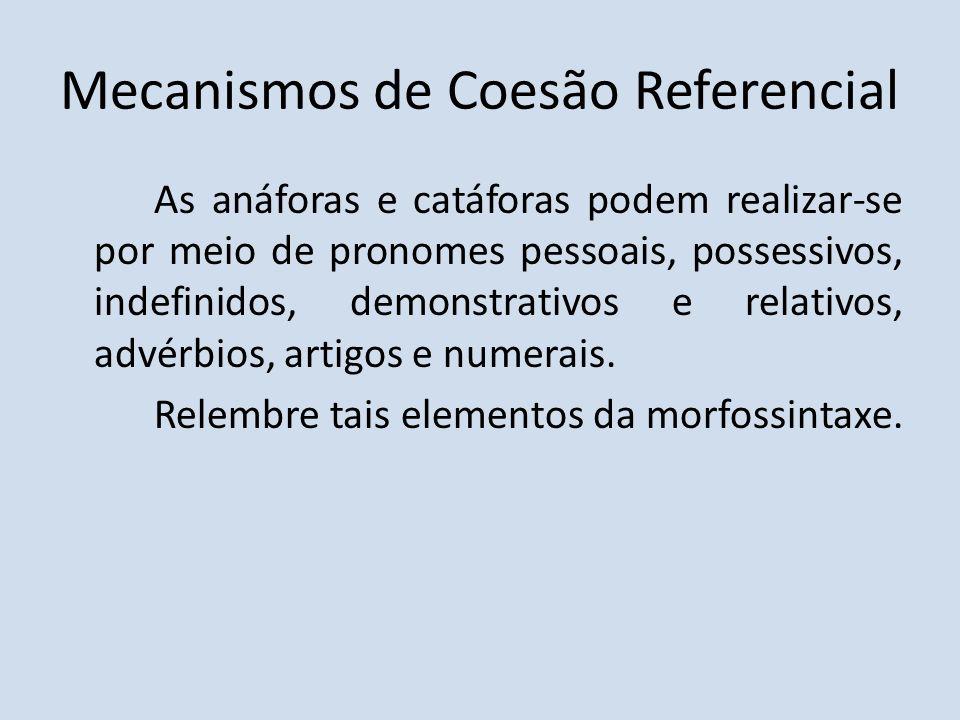 Mecanismos de Coesão Referencial
