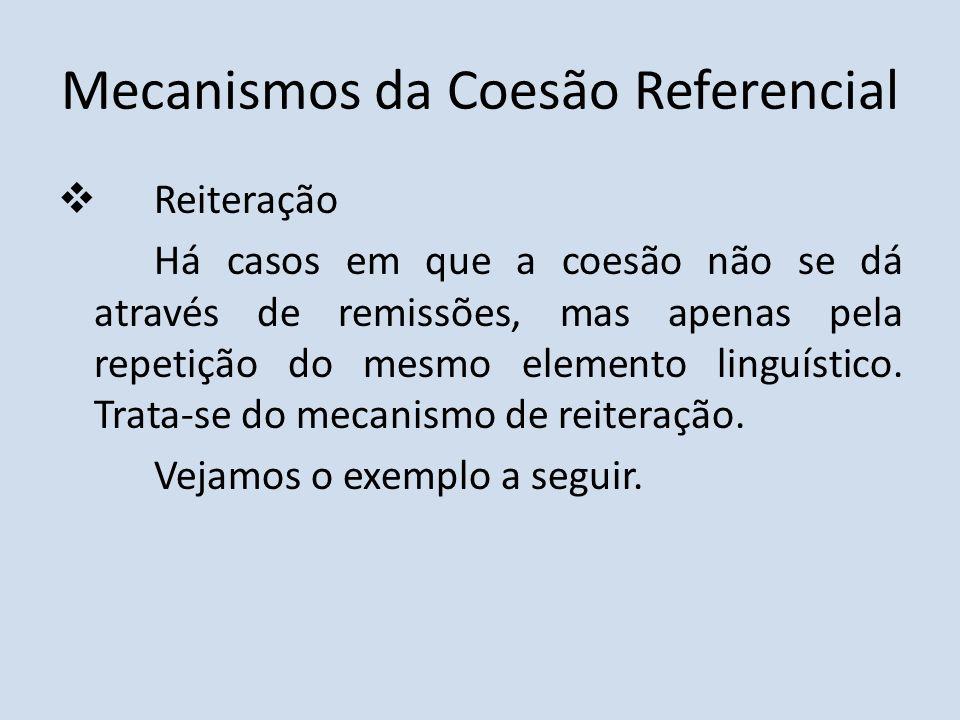 Mecanismos da Coesão Referencial