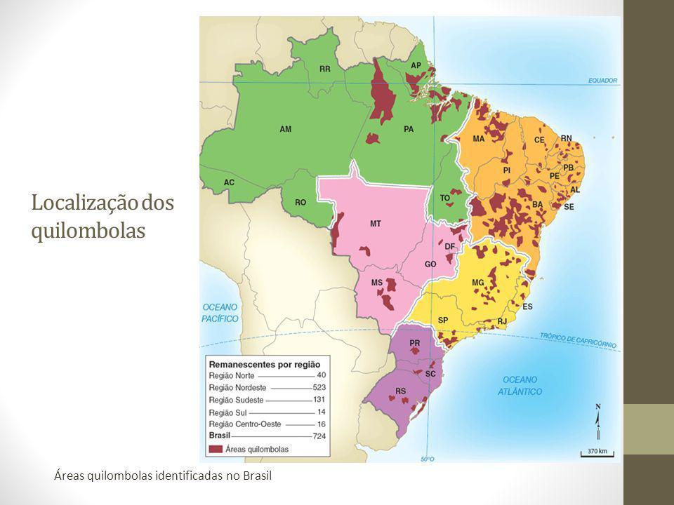 Localização dos quilombolas
