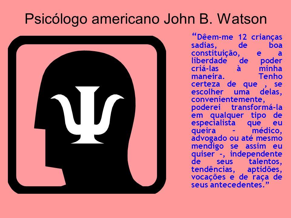 Psicólogo americano John B. Watson