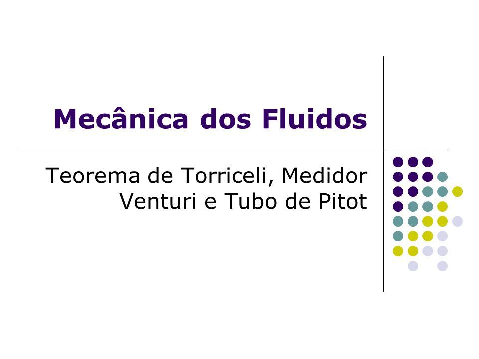 Teorema de Torriceli, Medidor Venturi e Tubo de Pitot