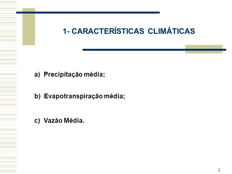 1- CARACTERÍSTICAS CLIMÁTICAS