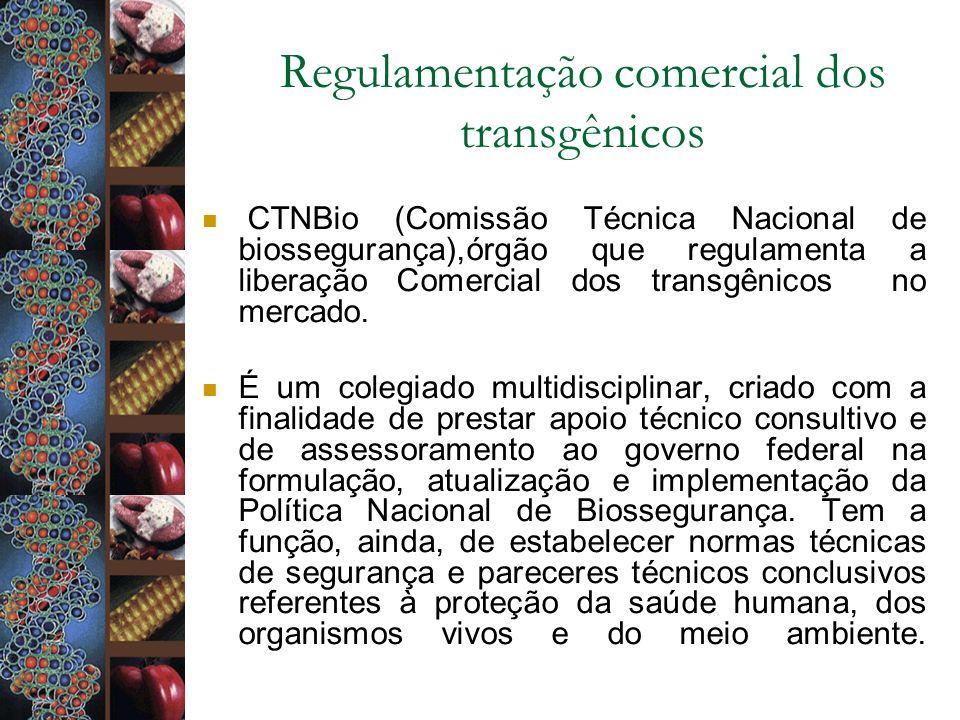 Regulamentação comercial dos transgênicos