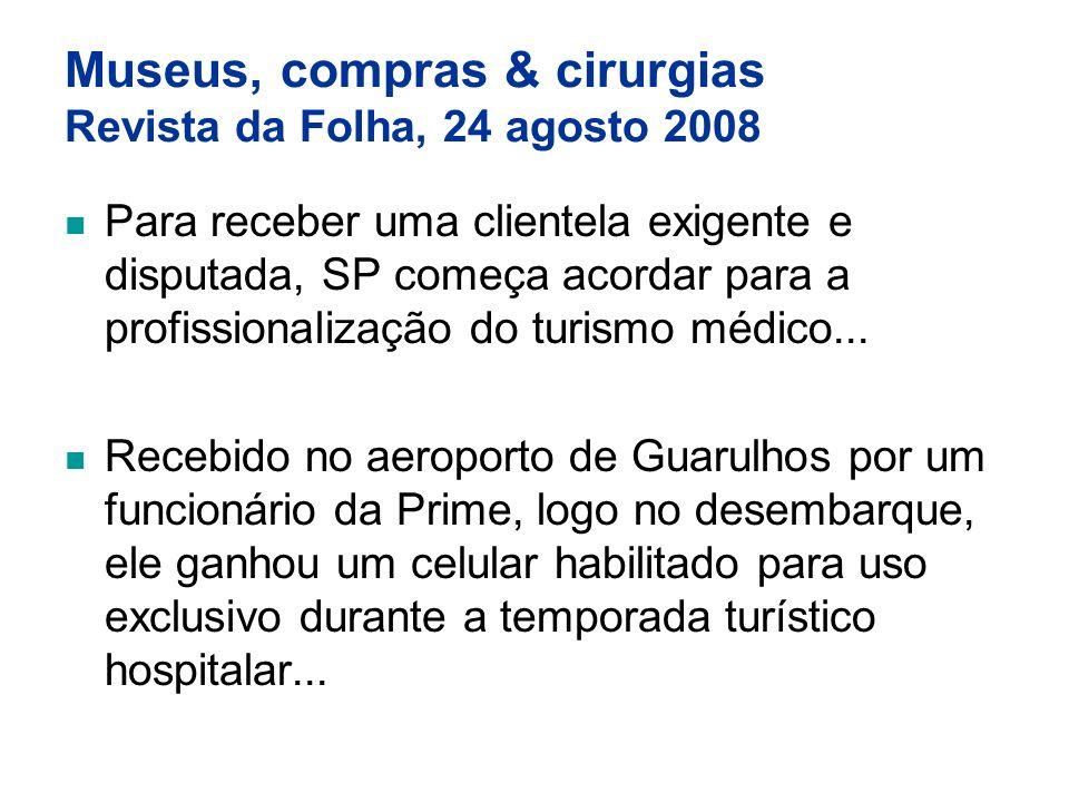 Museus, compras & cirurgias Revista da Folha, 24 agosto 2008