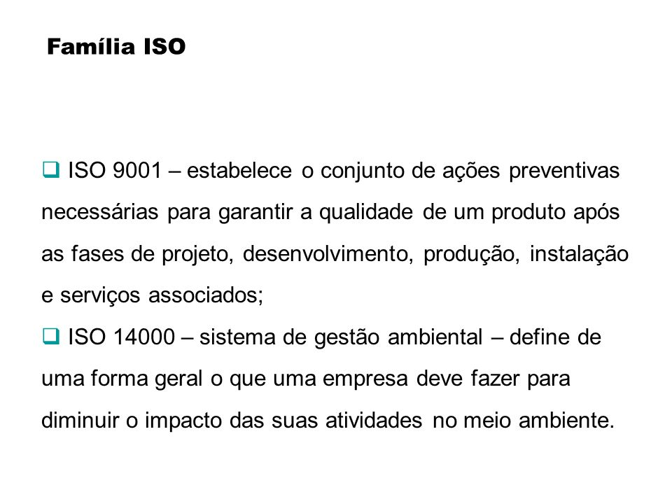 Família ISO