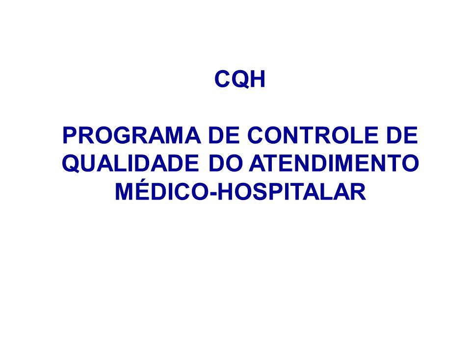 PROGRAMA DE CONTROLE DE QUALIDADE DO ATENDIMENTO MÉDICO-HOSPITALAR