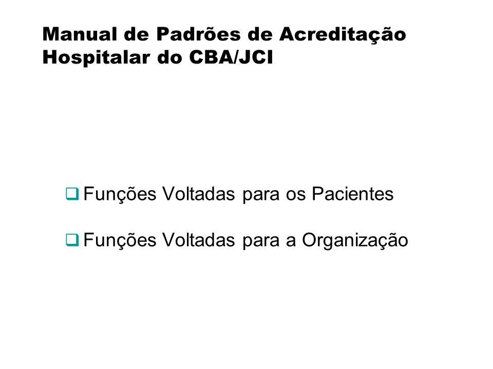 Manual de Padrões de Acreditação Hospitalar do CBA/JCI