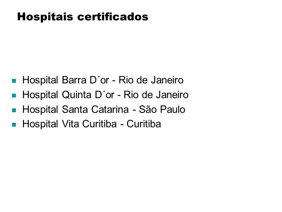 Hospitais certificados