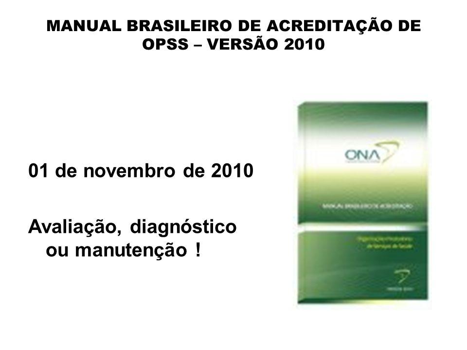 MANUAL BRASILEIRO DE ACREDITAÇÃO DE OPSS – VERSÃO 2010