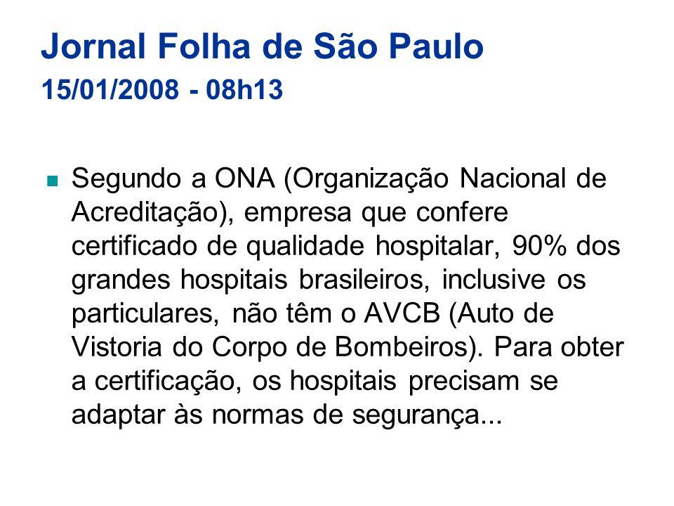 Jornal Folha de São Paulo 15/01/2008 - 08h13