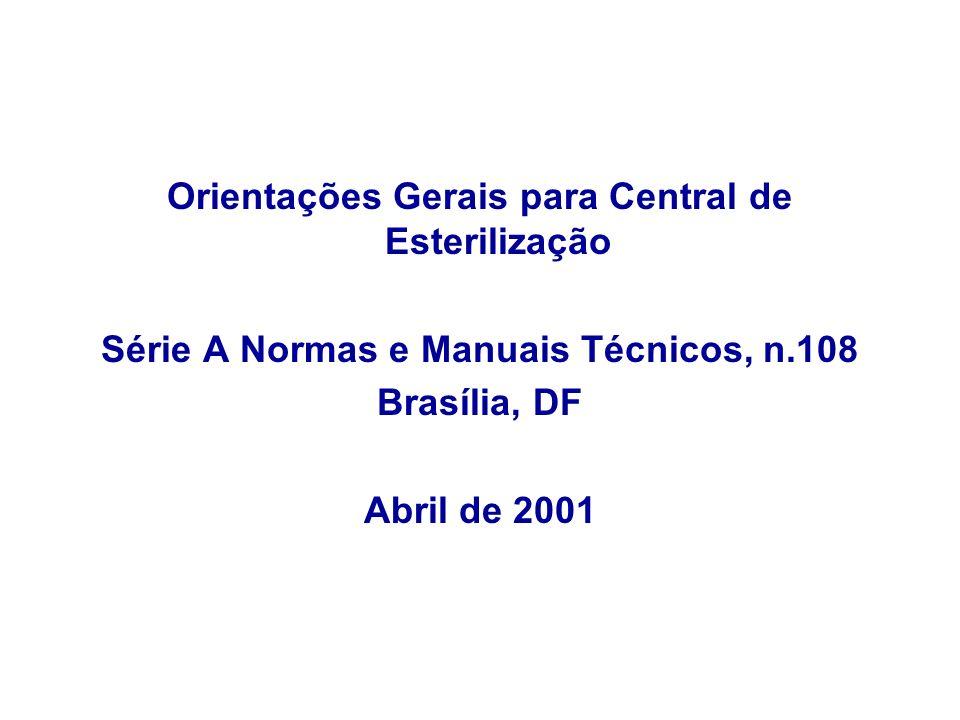 Orientações Gerais para Central de Esterilização