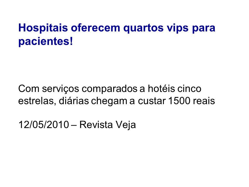 Hospitais oferecem quartos vips para pacientes