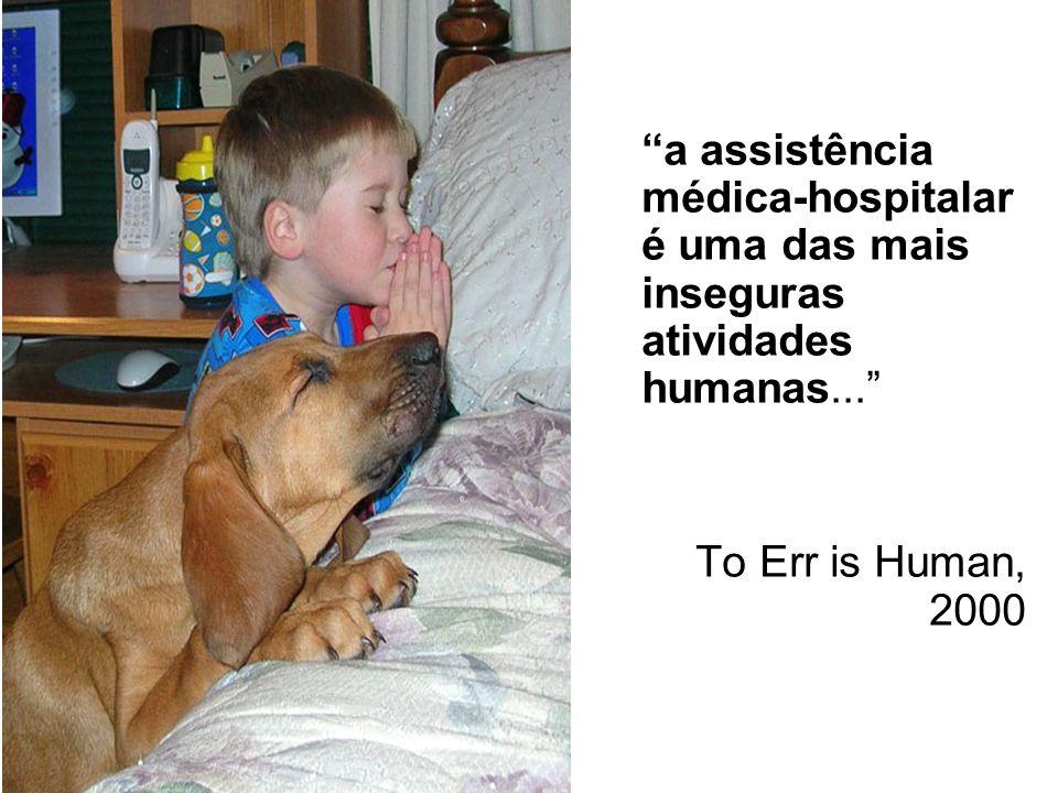 a assistência médica-hospitalar é uma das mais inseguras atividades humanas...