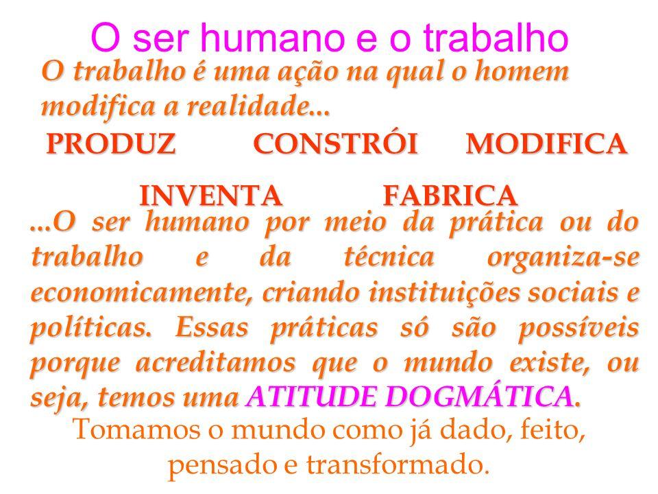 O ser humano e o trabalho