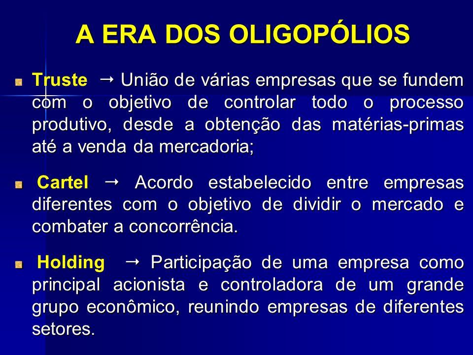 A ERA DOS OLIGOPÓLIOS