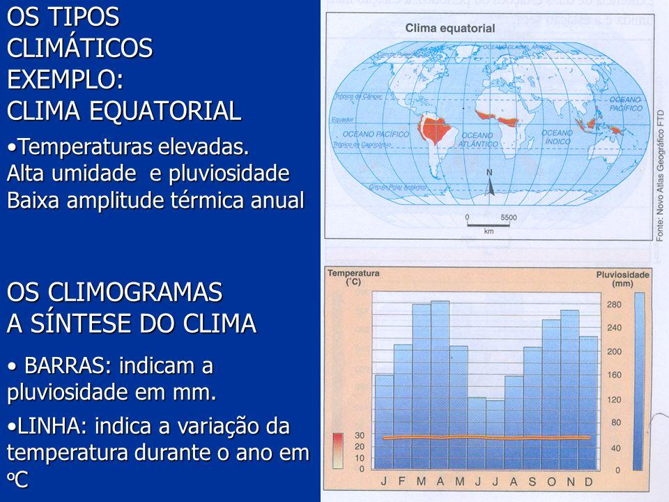 OS TIPOS CLIMÁTICOS EXEMPLO: CLIMA EQUATORIAL