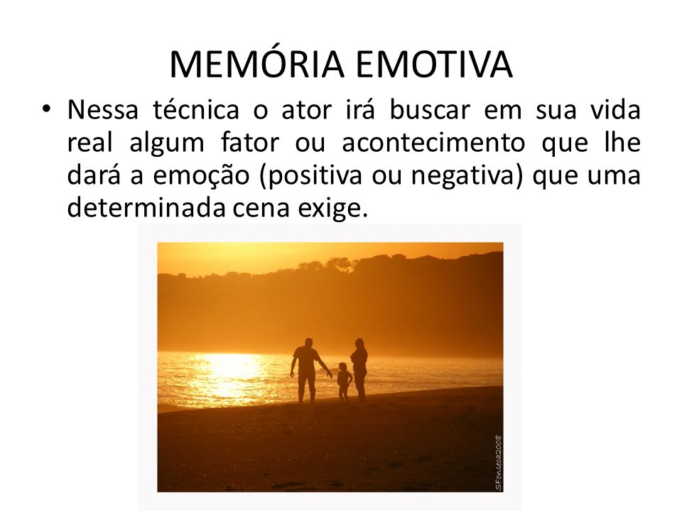 MEMÓRIA EMOTIVA