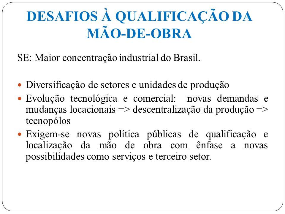 DESAFIOS À QUALIFICAÇÃO DA MÃO-DE-OBRA