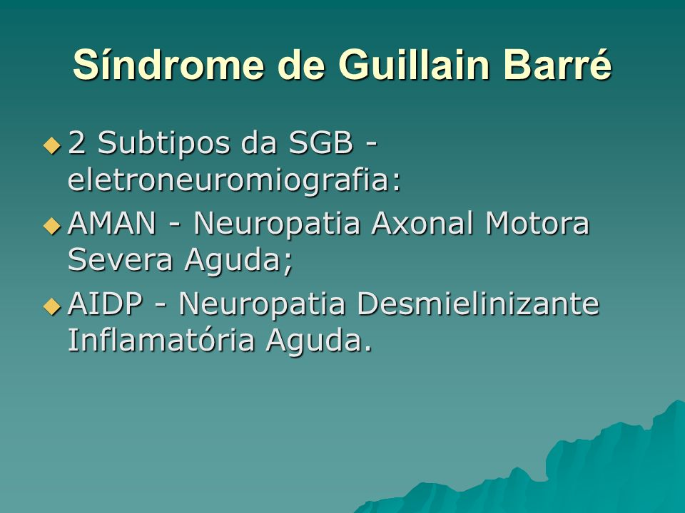 Síndrome de Guillain Barré