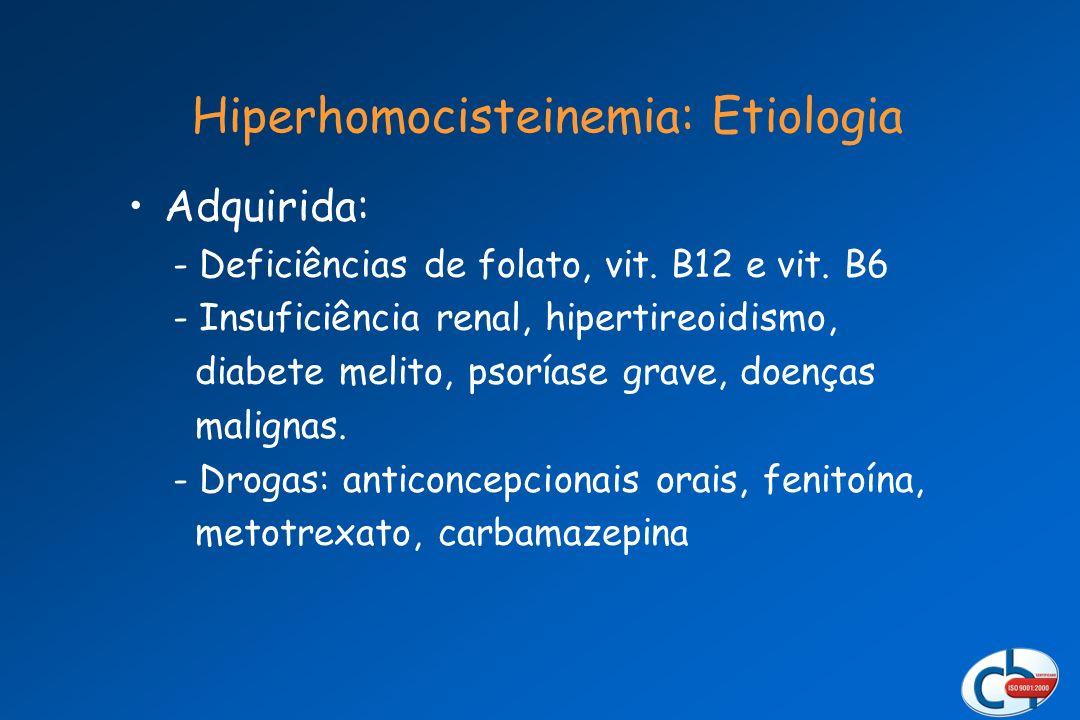 Hiperhomocisteinemia: Etiologia