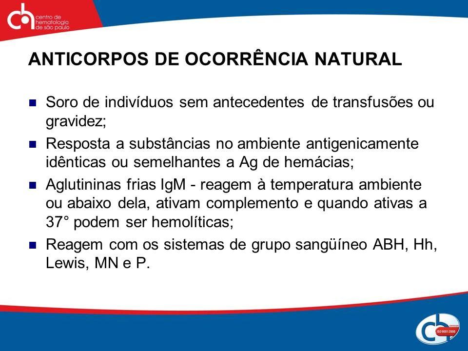 ANTICORPOS DE OCORRÊNCIA NATURAL