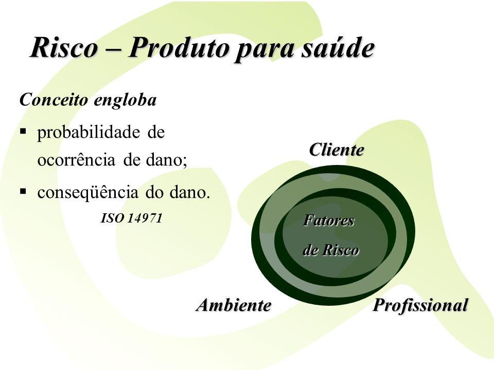 Risco – Produto para saúde