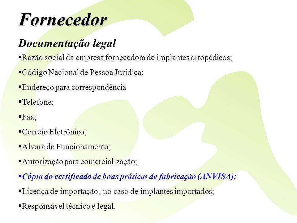 Fornecedor Documentação legal
