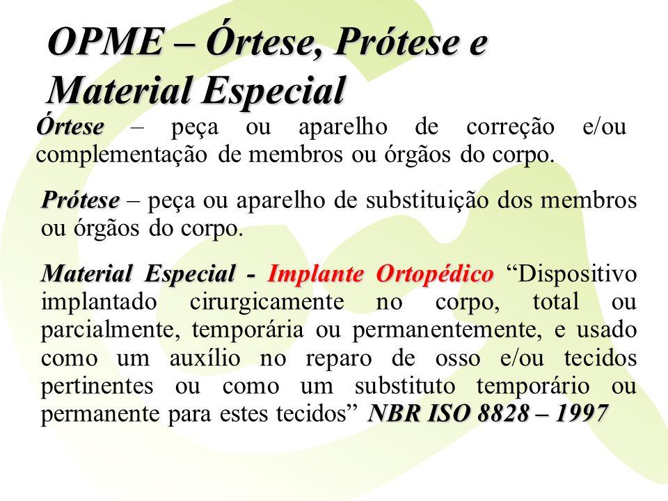 OPME – Órtese, Prótese e Material Especial