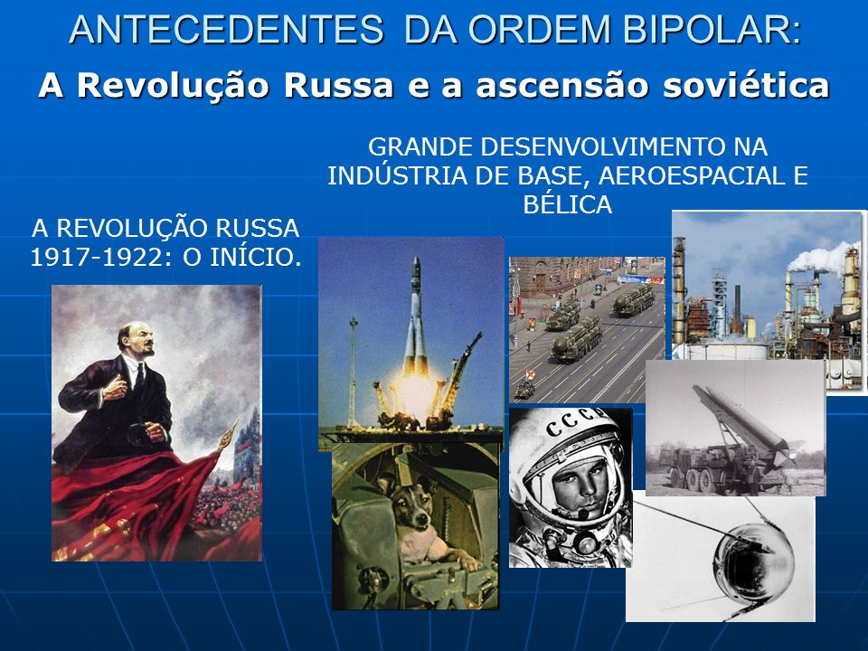 ANTECEDENTES DA ORDEM BIPOLAR: