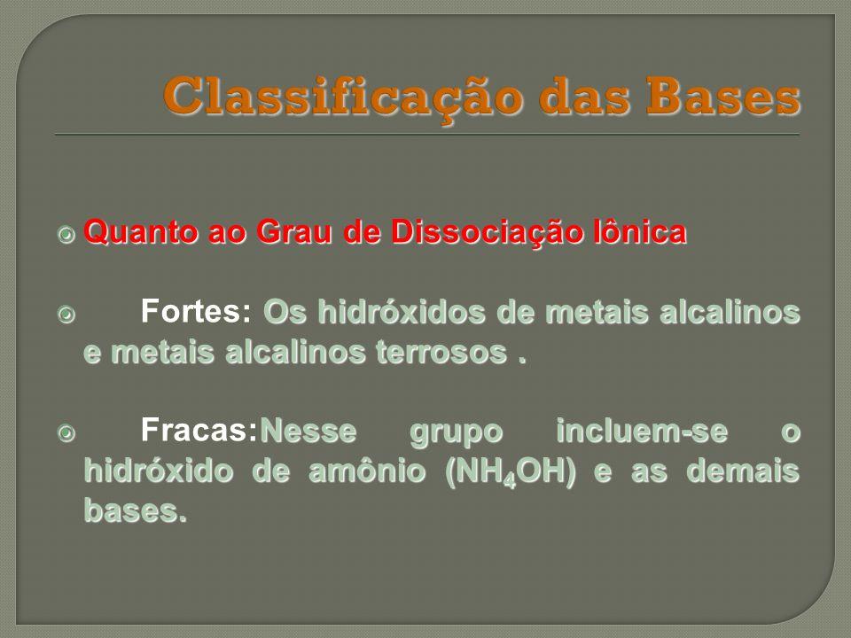 Classificação das Bases