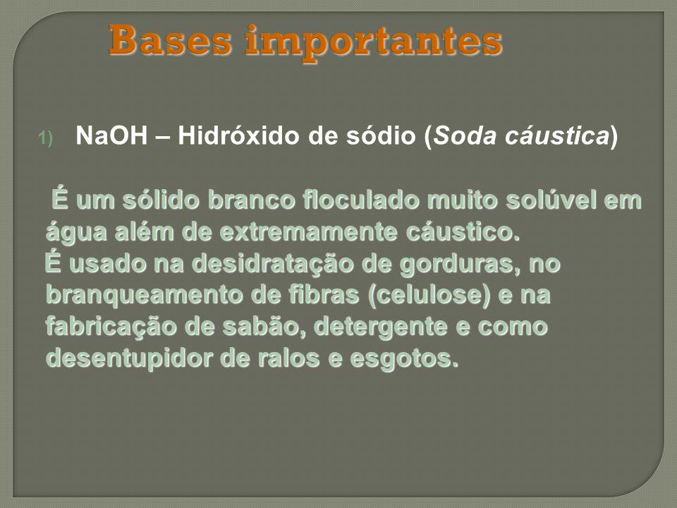 NaOH – Hidróxido de sódio (Soda cáustica)