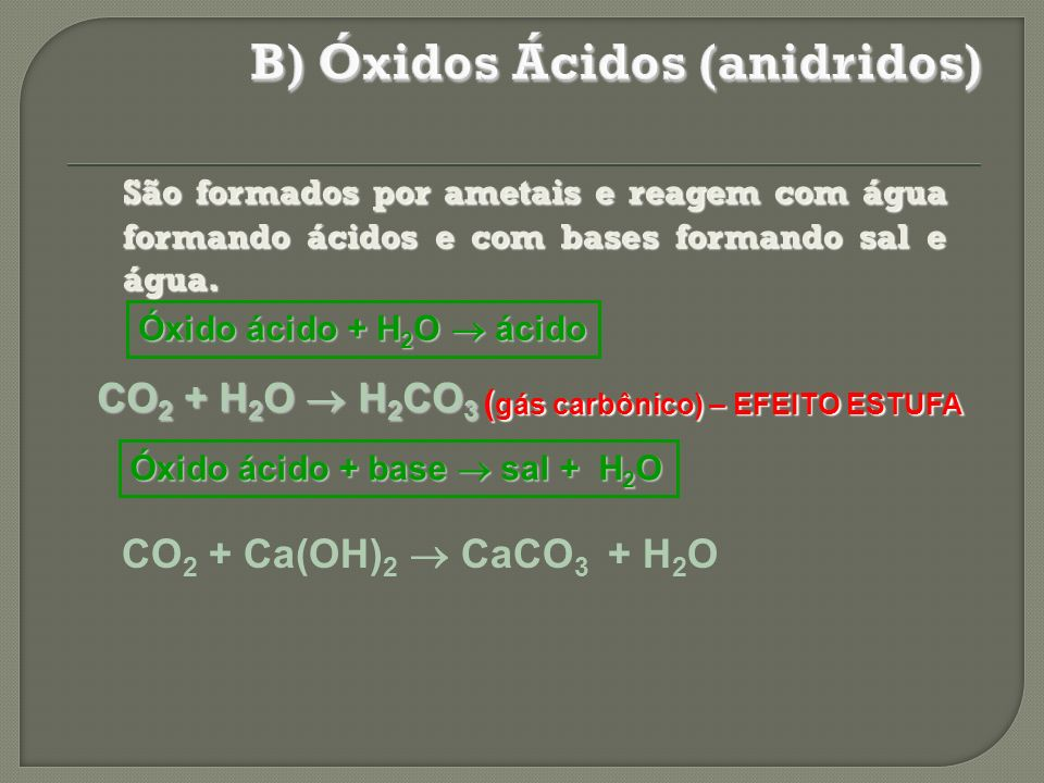 B) Óxidos Ácidos (anidridos)