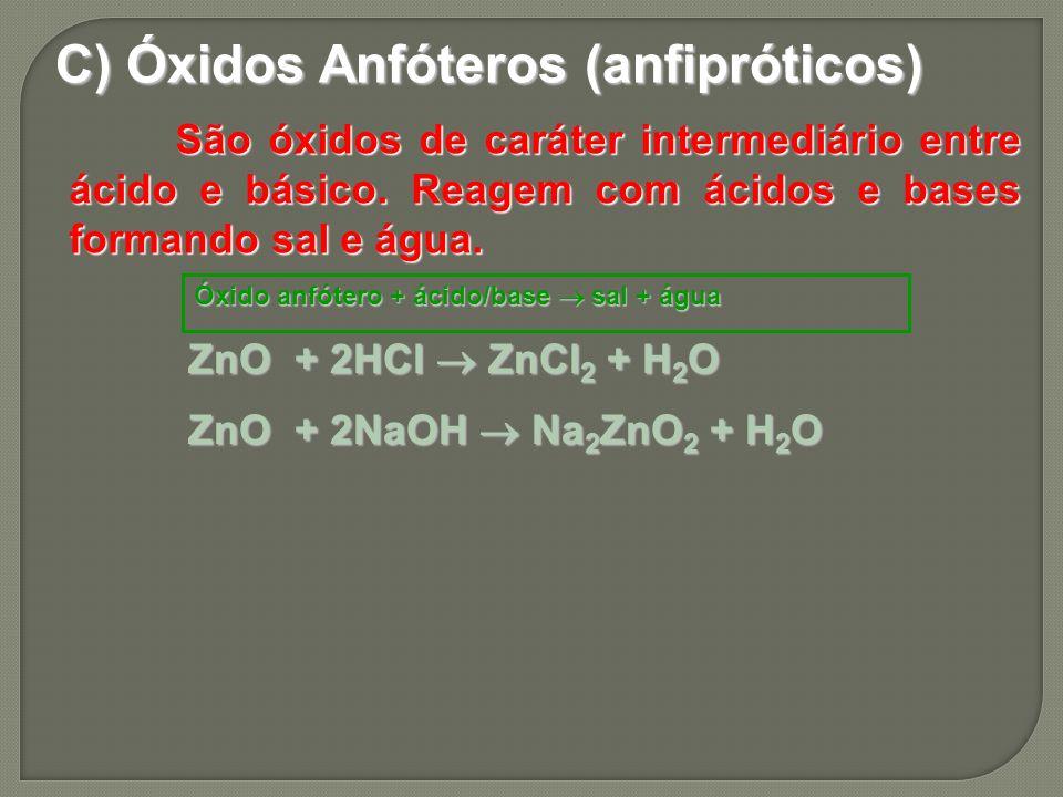 C) Óxidos Anfóteros (anfipróticos)