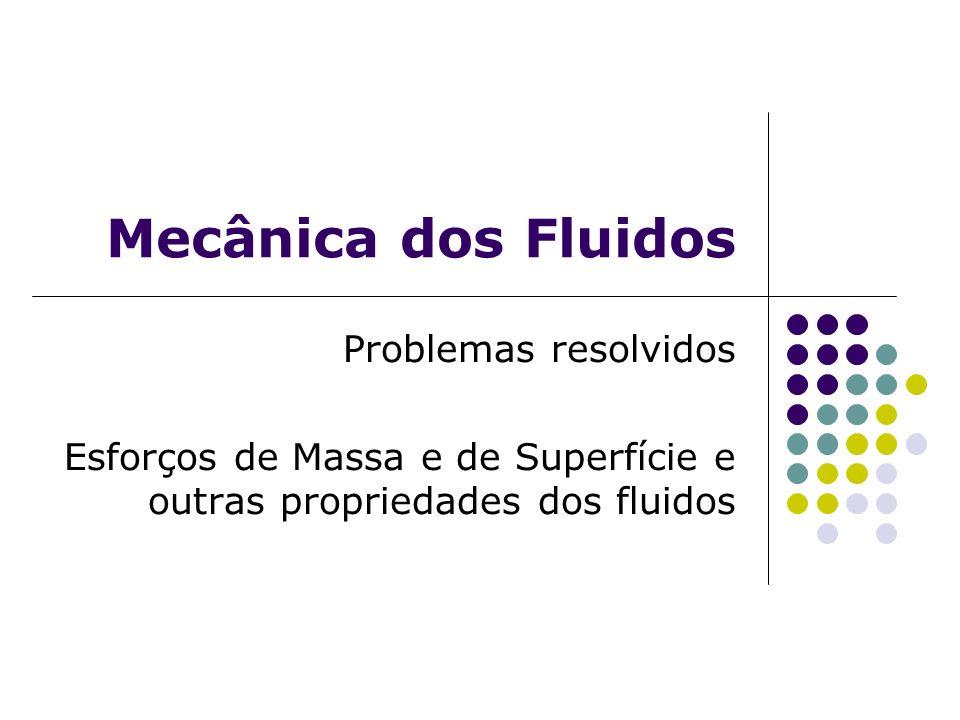 Mecânica dos Fluidos Problemas resolvidos