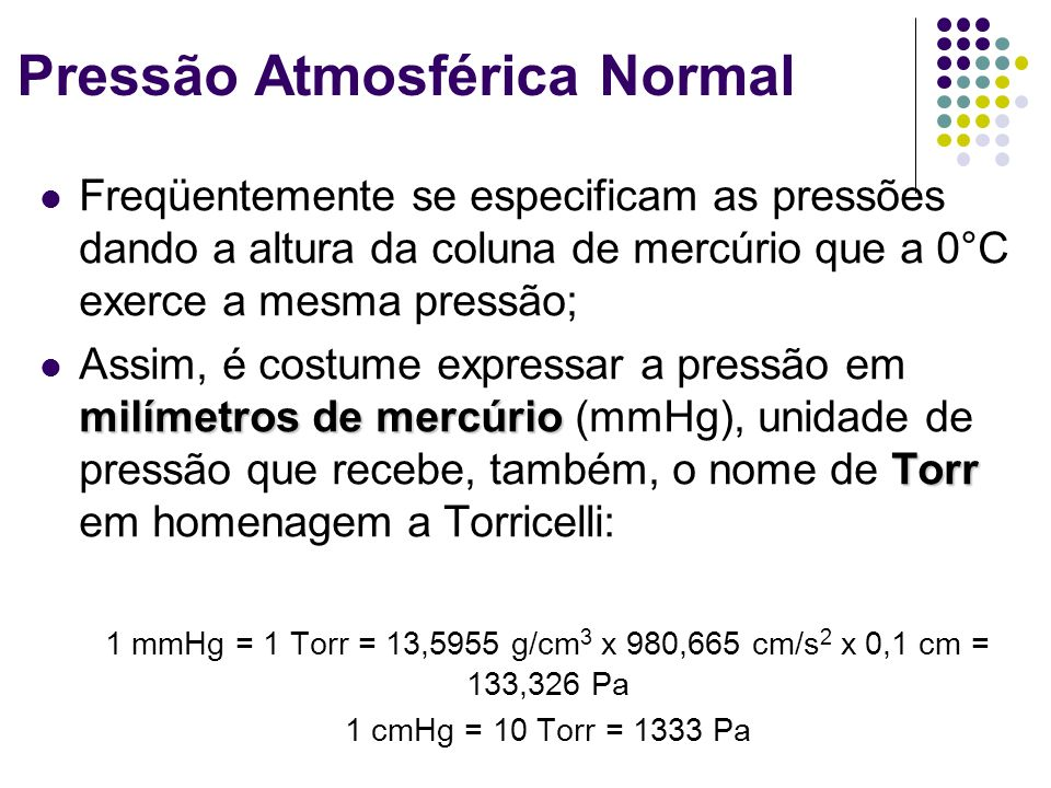 Pressão Atmosférica Normal