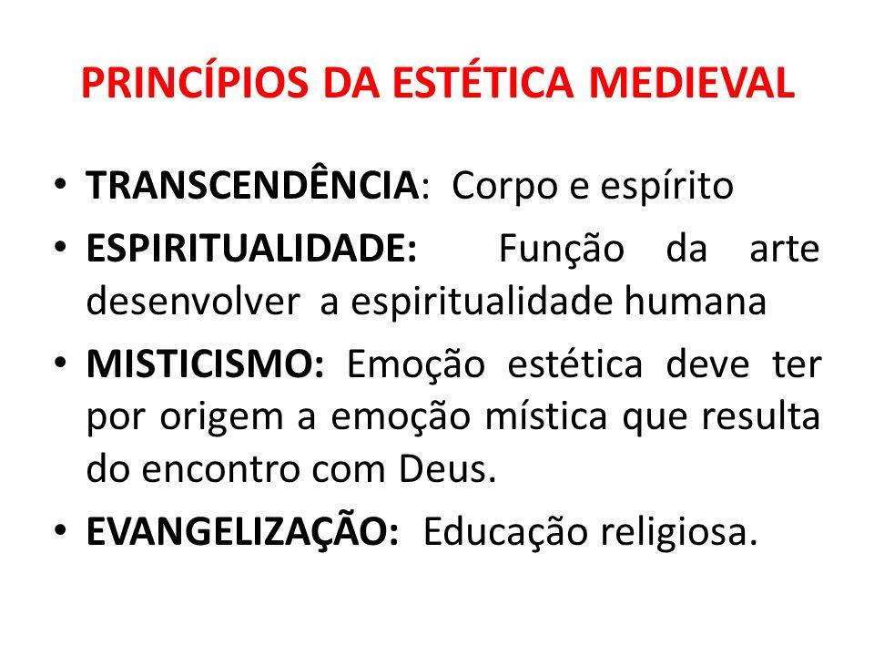 PRINCÍPIOS DA ESTÉTICA MEDIEVAL