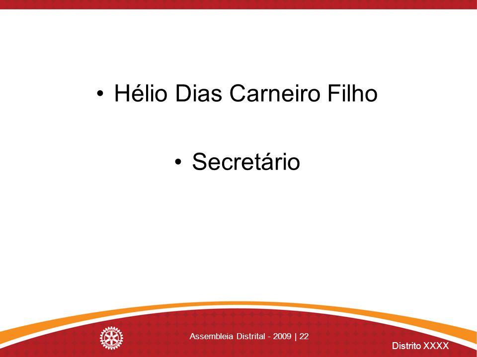 Hélio Dias Carneiro Filho Secretário